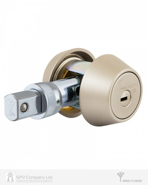 Фото 8 - Замок врезной MUL-T-LOCK 1-WAY DEAD BOLT HERCULAR SATIN NICKEL UNIV BS60/70мм *MT5+ 3KEY DND5I BLUE INS 948B metal door SP.