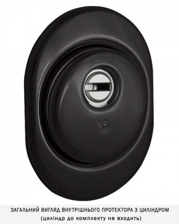 Фото 4 - Протектор DISEC CONTRO CD2000 DIN OVAL 21мм Фарба чорна 3клас N Внутренний, не регулируемый.
