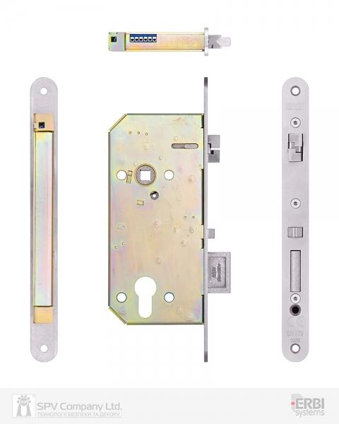 Фото 4 - Замок электромеханический ERBI SAM EL MI B P 9050 ВЅ50мм 90мм FP22 SS UNIV CZECH SOL 10-24V NC EI двусторонний контроль, с датчиками.