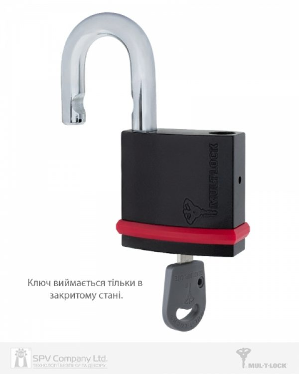 Фото 6 - Замок навесной MUL-T-LOCK NE10G CLASSIC 064 3KEY ARC GREY INS NR shackle 26мм 10мм BOX M.