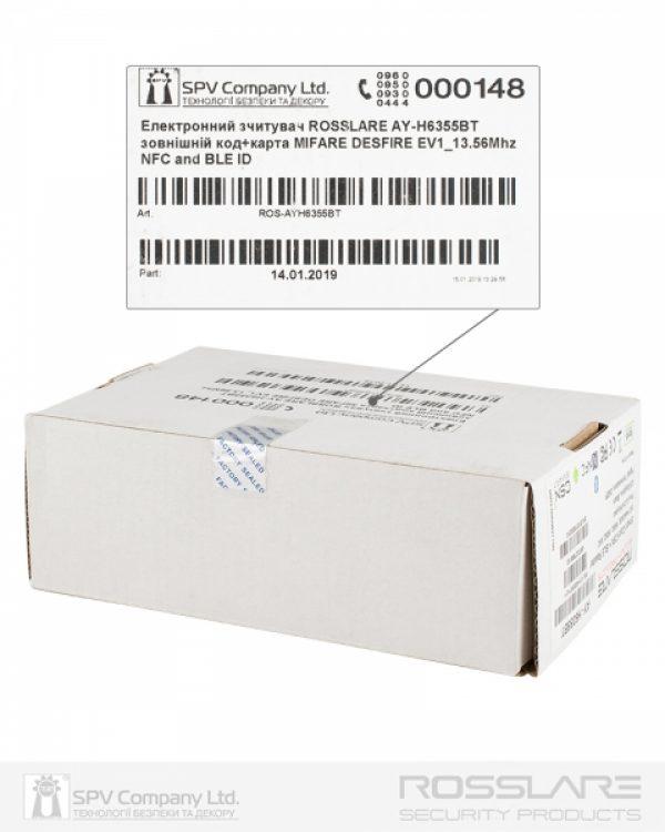 Фото 4 - Электронный считыватель ROSSLARE AY-H6355BT внешний код+карта MIFARE DESFIRE EV1 13.56Mhz and NFC BLE ID.