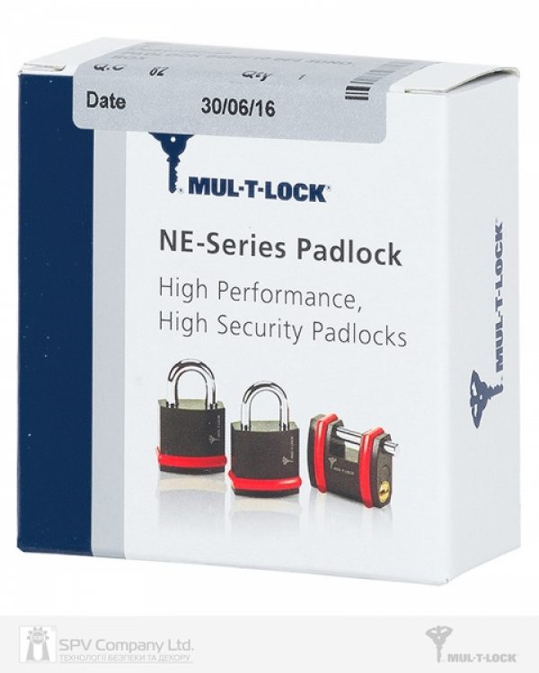 Фото 4 - Замок навесной MUL-T-LOCK NE10G CLASSIC 064 3KEY ARC GREY INS NR shackle 26мм 10мм BOX M.