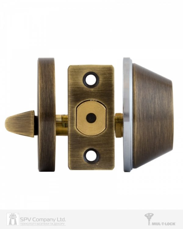 Фото 7 - Замок врезной MUL-T-LOCK 1-WAY DEAD BOLT DBM ANTIQUE BRONZE UNIV ВЅ60мм CLASSIC VIP CONTROL 2KEY+3KEY ARC GREY INS 064 SP.