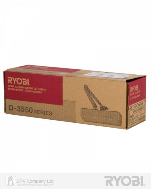Фото 4 - Доводчик накладной RYOBI 3550 D-3550 DARK BRONZE BC/DA UNIV ARM EN 2-5 до 100кг 1250мм FIRE.