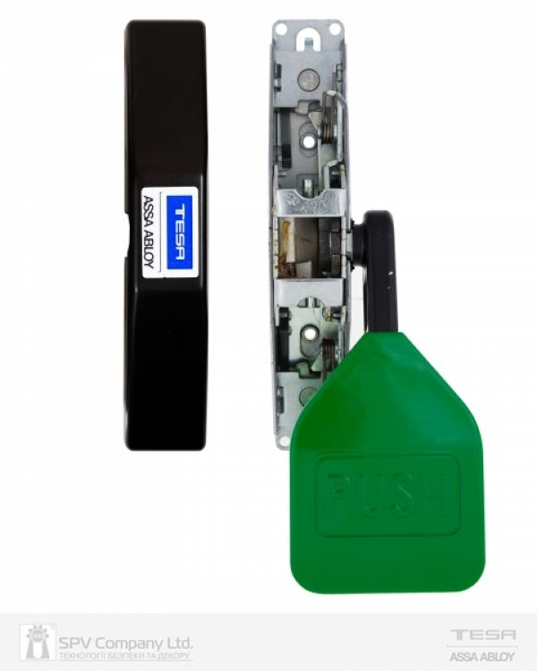 Фото 4 - Замок TESA для запасного выхода накладной TP91008 NV N: black (RAL 9005)/ V: green (RAL 6002) 1 Locking 8мм.