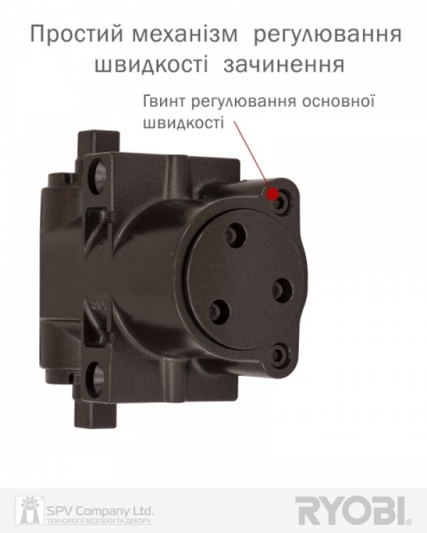 Фото 12 - Доводчик накладной RYOBI DS 4550-4550P DARK BRONZE BC/DA PRL HO ARM EN 2-7+ до 200кг 1400мм.