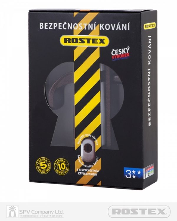 Фото 4 - Фурнитура защитная ROSTEX 802 R fix-mov PZ PLATE 85мм Фарба коричнева антік 38-55мм 3клас Hranate/804 BROWN Комплект.