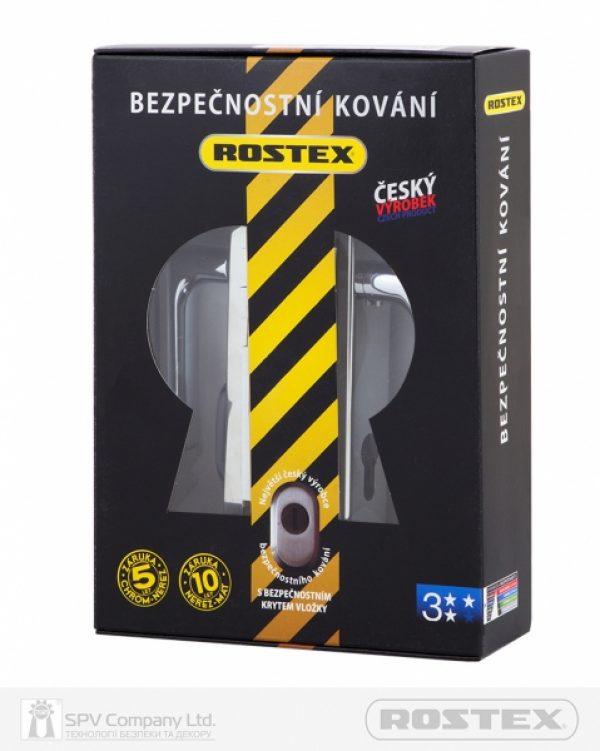 Фото 4 - Фурнитура защитная ROSTEX R1/R4 R mov-mov DIN PLATE 72мм Хром полірований 22мм 38-55мм 3клас 804 CR Комплект.