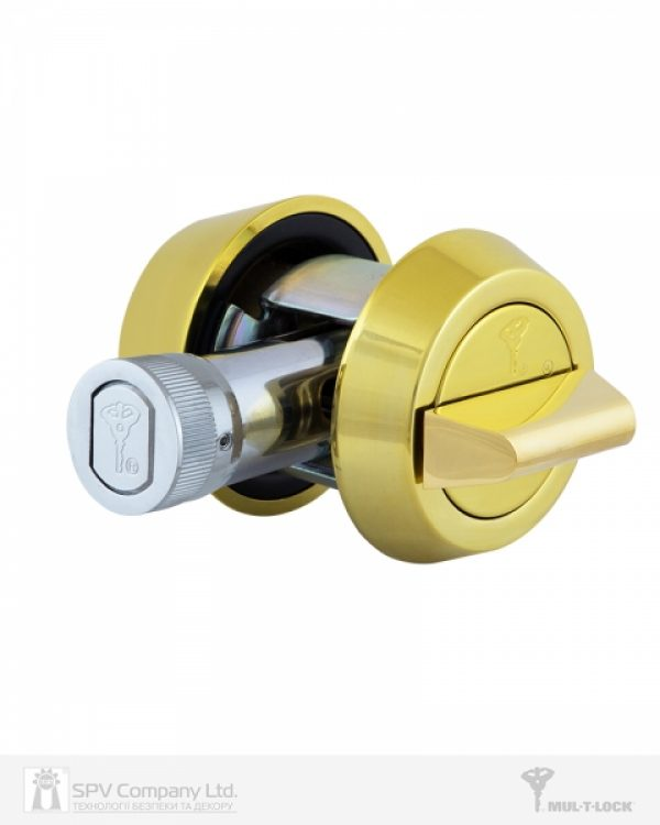 Фото 4 - Замок врезной MUL-T-LOCK 1-WAY DEAD BOLT HERCULAR SHINY BRASS UNIV BS60/70мм *MT5+ 3KEY DND2C B/S 948B metal door SP.