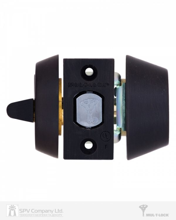 Фото 4 - Замок врезной MUL-T-LOCK 1-WAY DEAD BOLT HERCULAR BLACK DARK UNIV BS60/70мм *INTERACTIVE+ 3KEY DND3D BLUE INS 264S+ wood door SP.