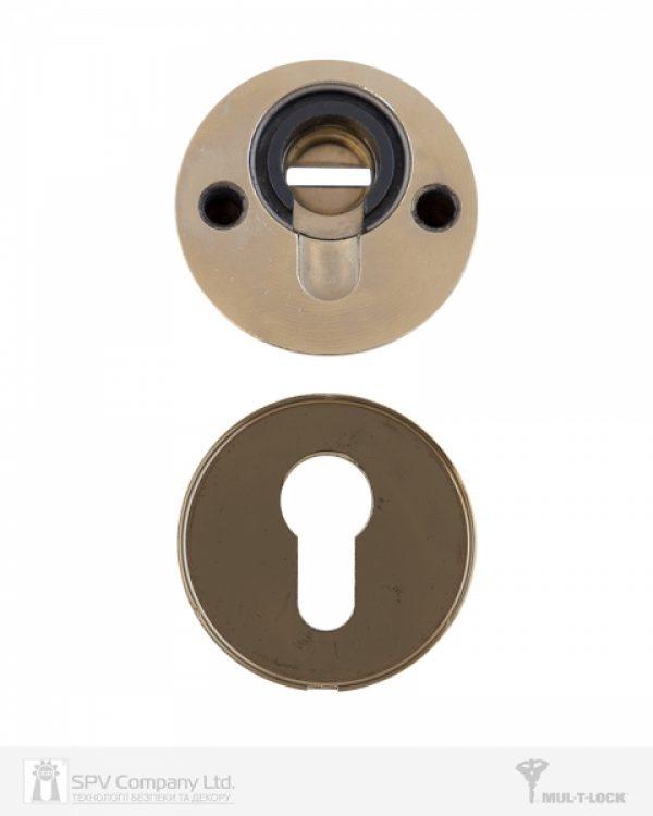 Фото 5 - Протектор MUL-T-LOCK SL3 DIN ROUND 14,5 мм 58-63мм Латунь полірована 3клас SHINY BRASS Комплект, М8х75.