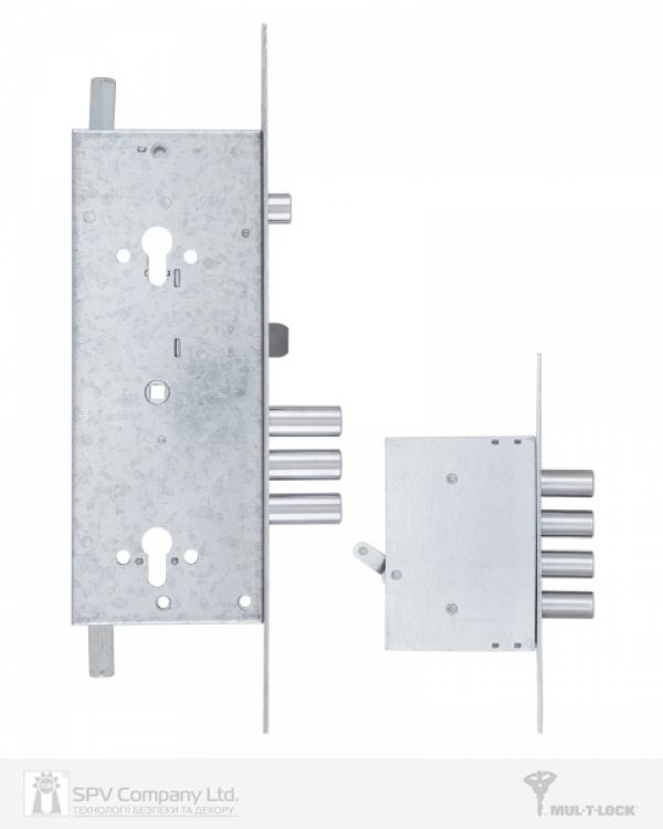 Фото 8 - Замок врезной MUL-T-LOCK 3-WAY DIN+DIN 415G CR SATIN NICKEL UNIV ВЅ63мм 2 protectors SP.