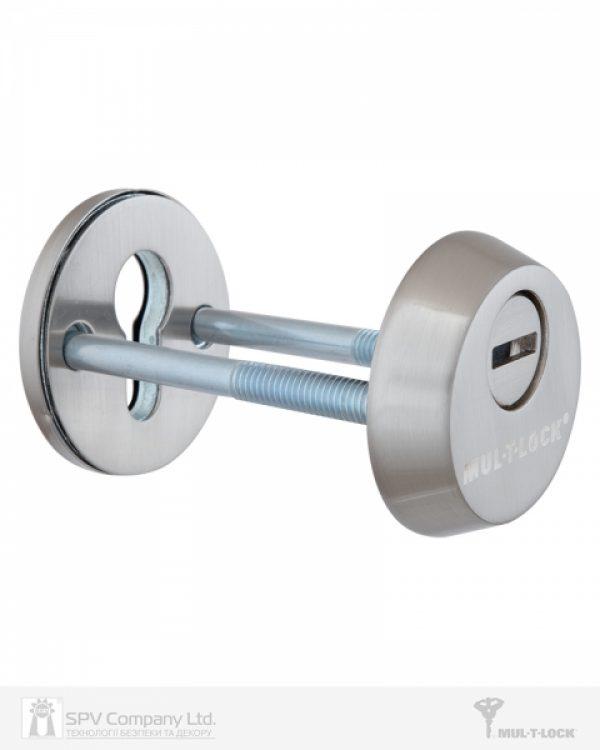 Фото 2 - Протектор MUL-T-LOCK SL3 DIN ROUND 14,5 мм 48-53мм Нерж.сталь мат 3клас BRUSHED NICKEL Комплект, М8х65.