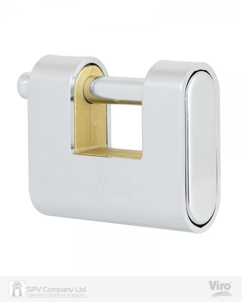 Фото 4 - Замок навесной VIRO PANZER 4117 3KEY 20мм 12мм BOX key profile patented.