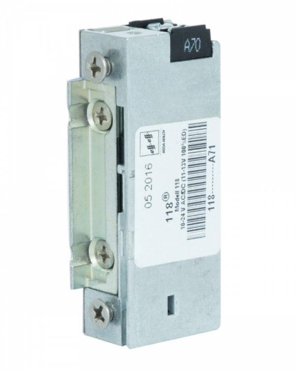 Фото 4 - Защелка электромеханическая EFF EFF 118 -A71 FaFix (W/O SP 10-24V AC/DC) НЗ универсальная с узким корпусом.