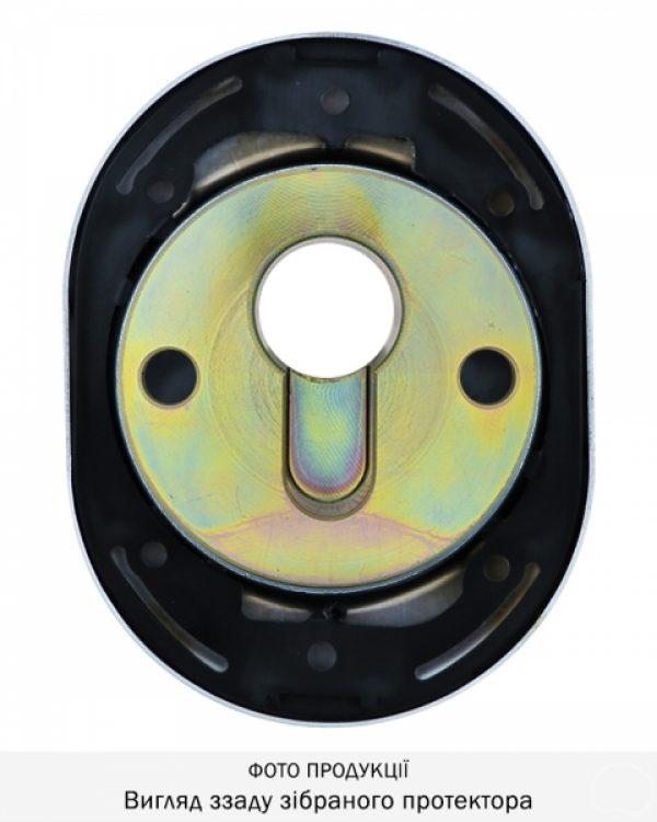 Фото 6 - Протектор DISEC CONTRO CD2000 DIN OVAL 21мм Хром полірований 3клас C Внутренний, не регулируемый.