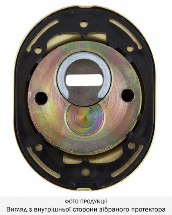 Фото 10 - Протектор DISEC SFERIK BDS16/4 DIN OVAL 25мм Латунь мат 3клас TT Комплект.