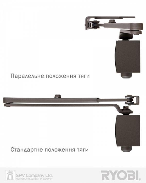 Фото 9 - Доводчик накладной RYOBI 1200 D-1200P(U) METALLIC BRONZE UNIV ARM EN 2/3/4 80кг 1100мм.