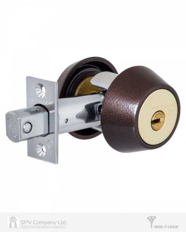 Фото 1 - Замок врезной MUL-T-LOCK 1-WAY DEAD BOLT HERCULAR BROWN UNIV BS60/70мм *INTERACTIVE+ 3KEY DND3D BLUE 264S+ wood door SP.