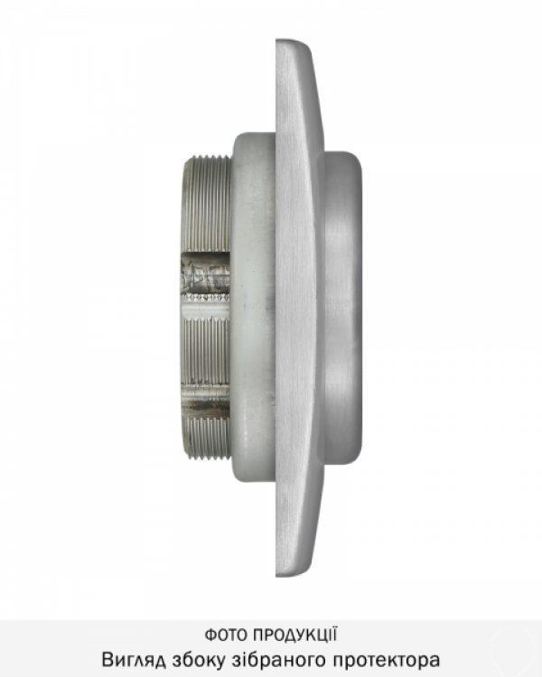 Фото 11 - Протектор DISEC MAGNETIC 3G 3G2WB DIN SQUARE 25мм Нерж.сталь мат IT 3KEY KM0P3G Внешний.
