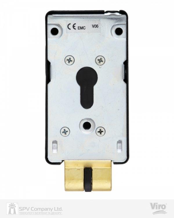 Фото 3 - Замок электромеханический VIRO V06 ВЅ70мм T1/T2 DIN 12VAC NC GATE накладной V96 BLACK открывание внутрь.