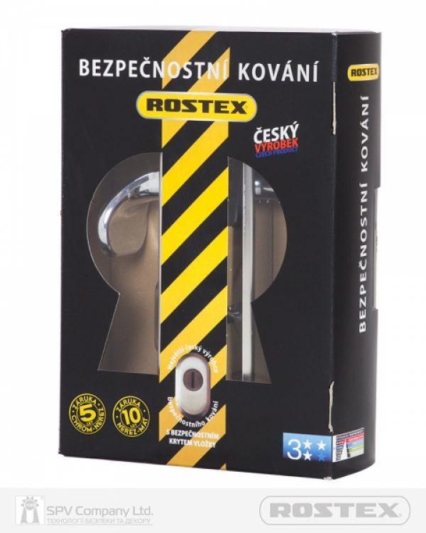 Фото 2 - Фурнитура защитная ROSTEX UNIVERSAL R mov-mov DIN PLATE 72мм Хром полірований 22мм 38-55мм 3клас Baryt CR Комплект.