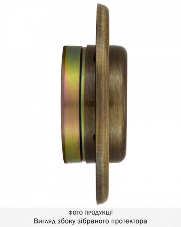 Фото 7 - Протектор DISEC SFERIK BD16/4 DIN OVAL 25мм Бронза сатин 3клас BS Внешний.