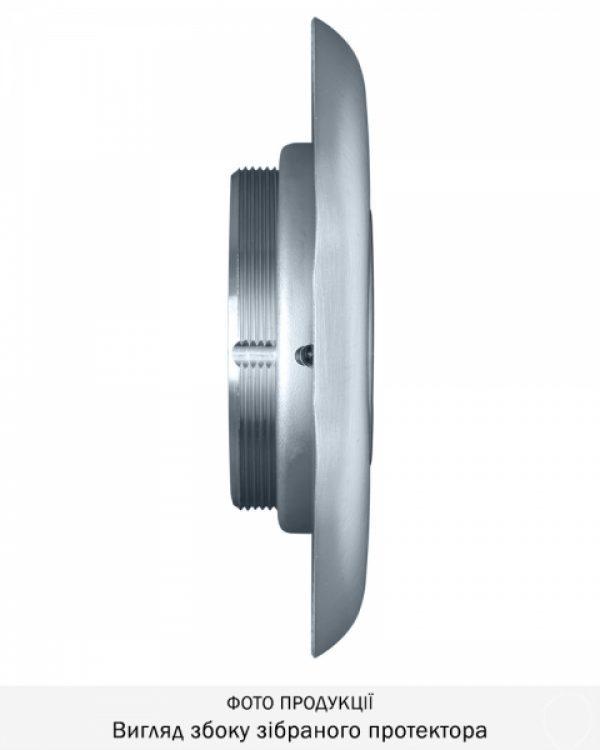 Фото 5 - Протектор DISEC MONOLITO BD108 OMEGA OVAL 22мм Хром мат 3клас T Внешний.