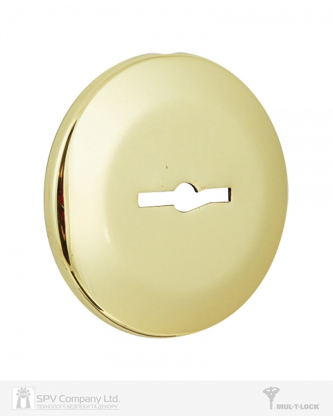 Фото 3 - Щиток MUL-T-LOCK A731 MATRIX ROUND Латунь PVD BRIGHT BRASS PVD Без шторки.