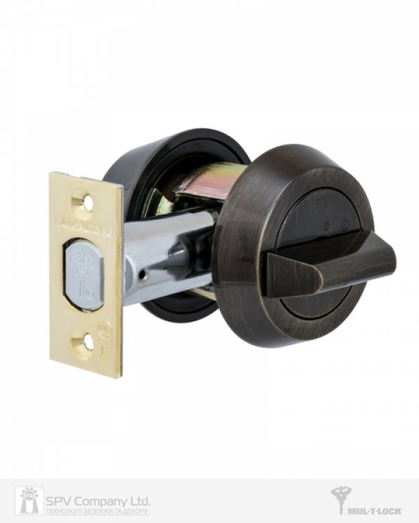 Фото 5 - Замок врезной MUL-T-LOCK 1-WAY DEAD BOLT HERCULAR ANTIQUE BRONZE UNIV BS60/70мм *MT5+ 3KEY DND2C B/S 948B wood door SP.