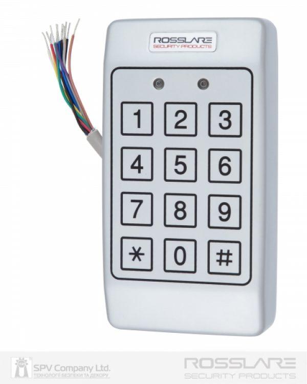 Фото 1 - Электронный контроллер ROSSLARE AC-T43 автономный антивандальный внешний код с пьезо кнопками.