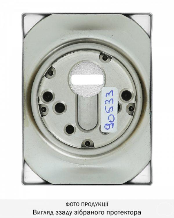 Фото 10 - Протектор DISEC MAGNETIC 3G 3G2WB DIN SQUARE 25мм Хром мат T 3KEY KM0P3G Внешний.