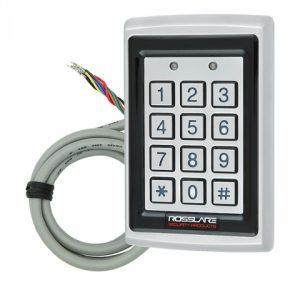 Фото 15 - Электронный контроллер ROSSLARE AC-Q42SB автономный антивандальный внешний код+карта EM-MARINE 125Khz с подсветкой.