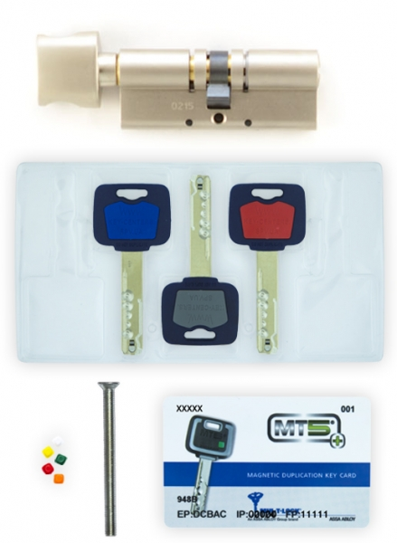 Фото 5 - Цилиндр MUL-T-LOCK DIN_KT XP *MT5+ 75 NST 35x40T TO_NST CAM30 3KEY DND5I_BLUE_INS 948B BOX_M.