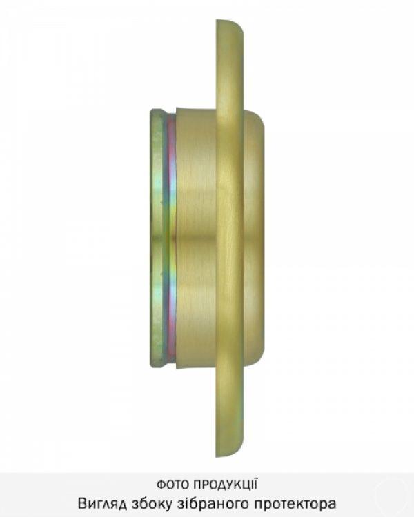 Фото 12 - Протектор DISEC CONTRO CD2000 DIN OVAL 21мм Латунь мат 3клас TT Внутренний, не регулируемый.