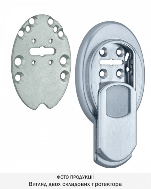 Фото 7 - Протектор DISEC MAGNETIC 4G MG3551DM LEVER KEY OVAL 15мм Хром мат T 3KEY KM0P55 Внешний.