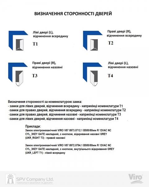 Фото 4 - Обратная планка VIRO 1094 iW 7755.1094.2.78 NICKEL PLATED STEE LH (UKR LEFT T1/T4).