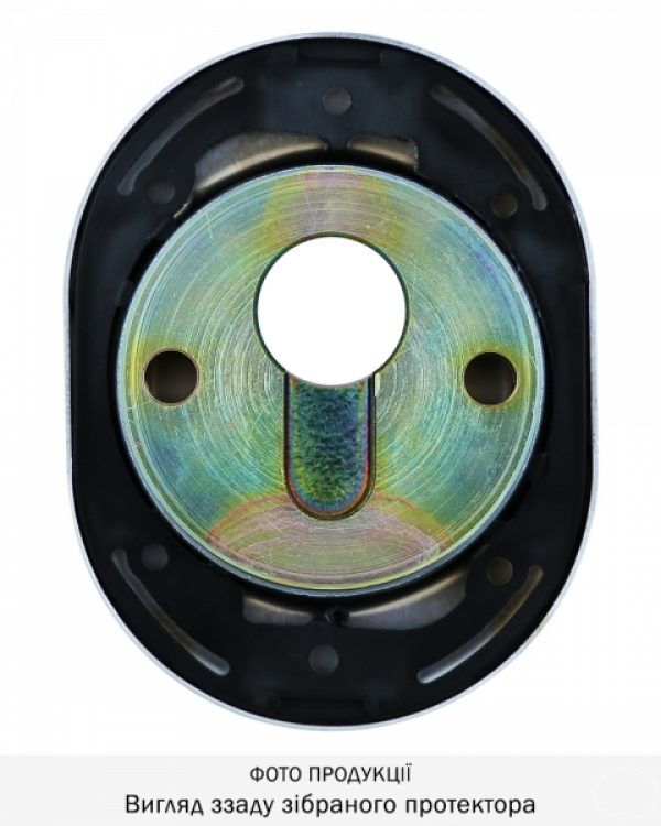 Фото 7 - Протектор DISEC CONTRO CD2100 DIN OVAL 30/40мм Хром мат 3клас T Внутренний, регулируемый.