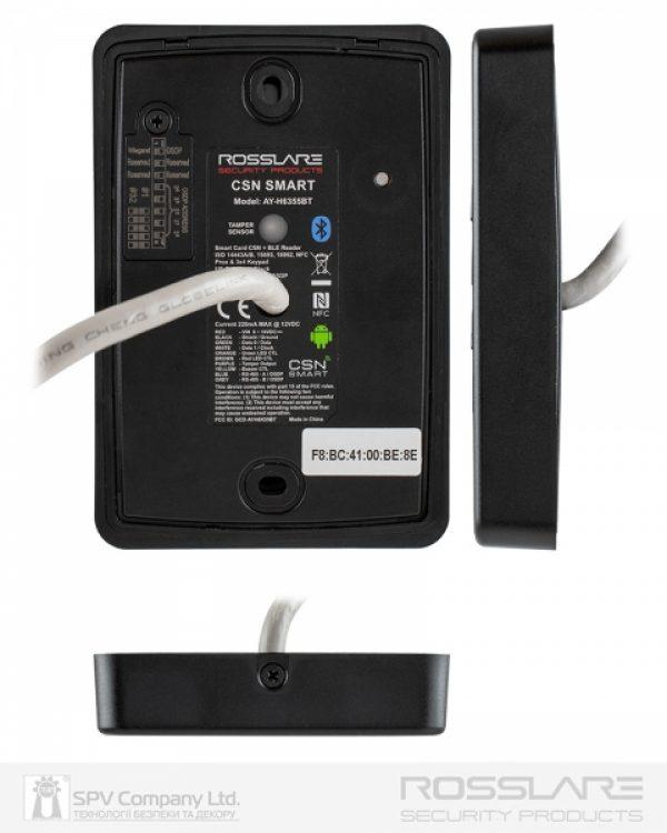 Фото 2 - Электронный считыватель ROSSLARE AY-H6355BT внешний код+карта MIFARE DESFIRE EV1 13.56Mhz and NFC BLE ID.