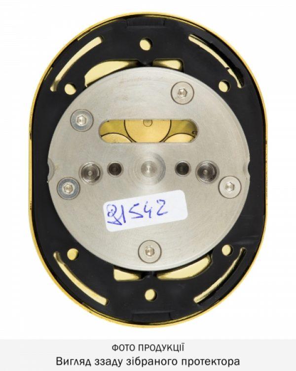 Фото 9 - Протектор DISEC MAGNETIC 3G 3GDM LEVER KEY OVAL 15мм Латунь PVD 3клас 2 3KEY KM0P3G Внешний.