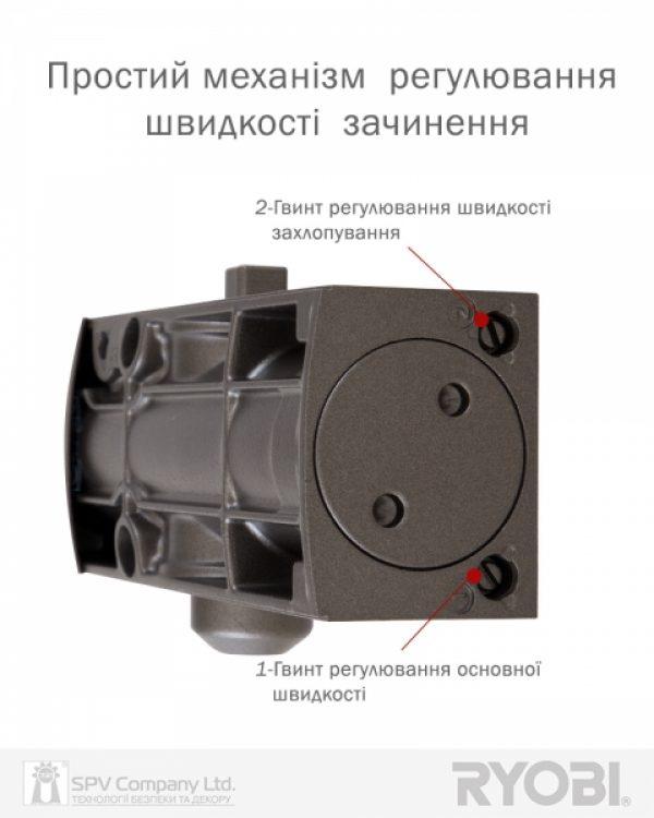 Фото 7 - Доводчик накладной RYOBI 1200 D-1200 METALLIC BRONZE STD ARM EN 2/3/4 80кг 1100мм.