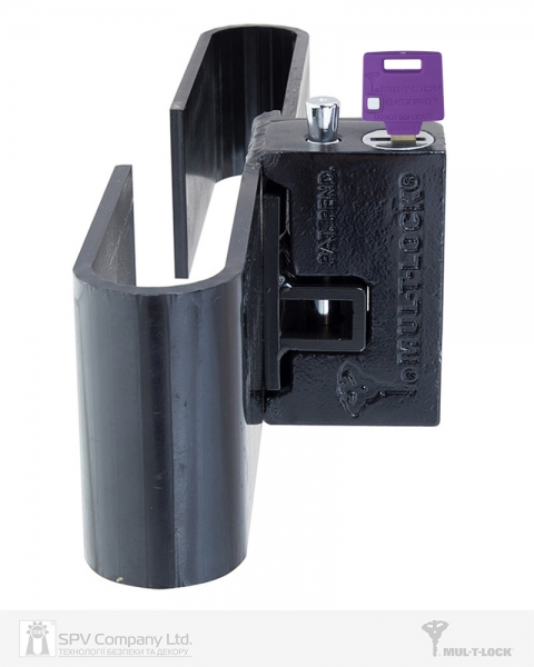 Фото 5 - Замок MUL-T-LOCK VAN CONTAINER BLACK накладной на дверцу контейнера 4867 3KEY DND3D PURPLE INS.