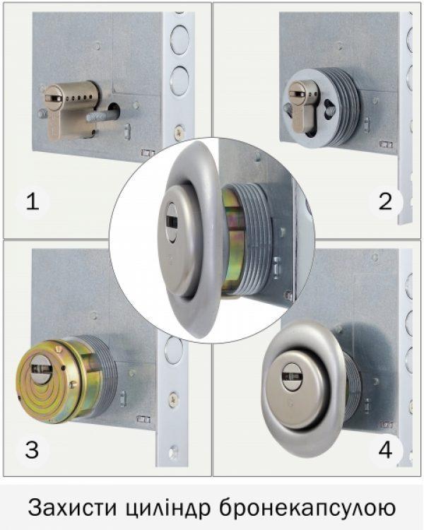 Фото 3 - Протектор DISEC GUARD SG16 DIN FOR WINDOW OVAL 25мм Хром мат 3клас T Комплект.
