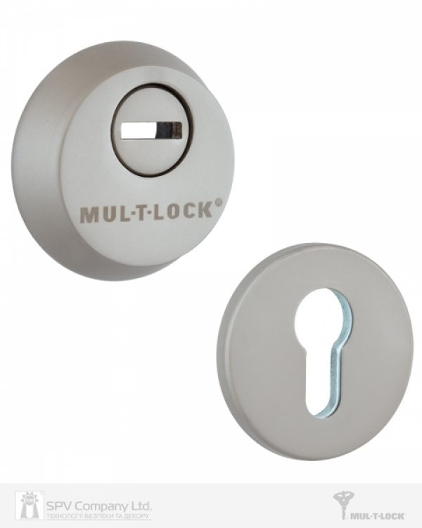 Фото 4 - Замок врезной MUL-T-LOCK 3-WAY DIN+DIN 415G CR SATIN NICKEL UNIV ВЅ63мм 2 protectors SP.