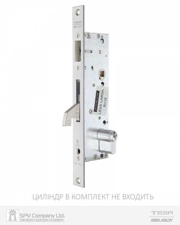 Фото 10 - Замок TESA врезной для активной створки 2240BA (BS35 85мм Zinc) 8мм RIGHT открывание наружу, для профильных дверей, PANIC FUNCTION.