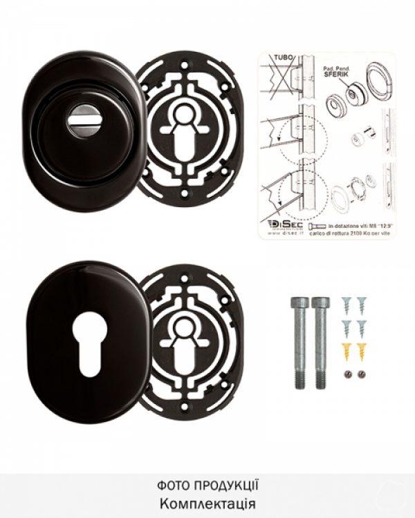 Фото 7 - Протектор DISEC SFERIK BDS16/4 DIN OVAL 25мм Хром чорний 3клас 8 Комплект.