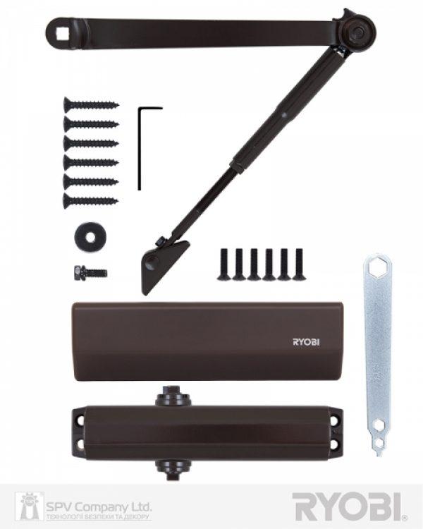 Фото 6 - Доводчик накладной RYOBI *1500 DS-1554 DARK BRONZE STD HO ARM EN 2/3/4 до 80кг 1100мм.