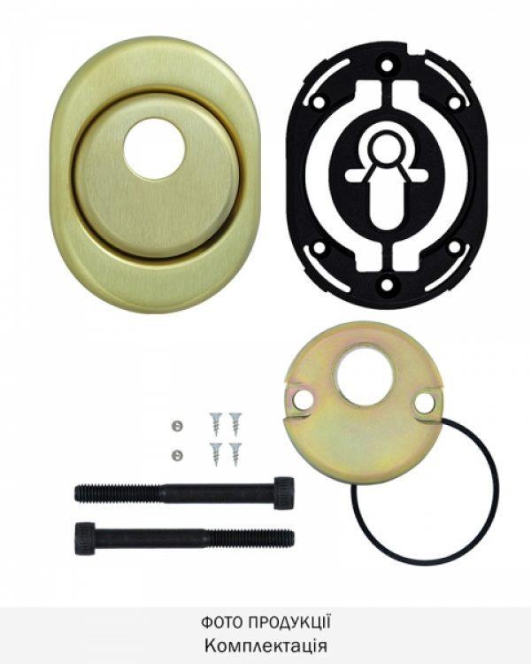 Фото 8 - Протектор DISEC CONTRO CD2000 DIN OVAL 21мм Латунь мат 3клас TT Внутренний, не регулируемый.