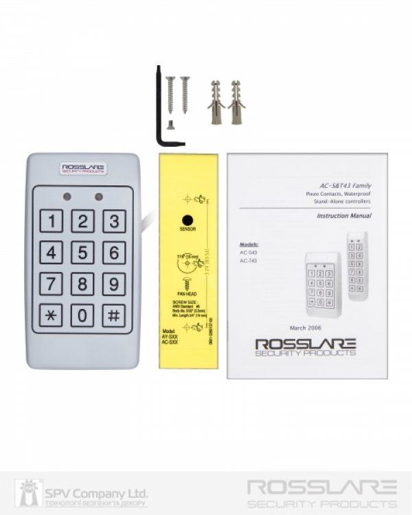 Фото 4 - Электронный контроллер ROSSLARE AC-T43 автономный антивандальный внешний код с пьезо кнопками.