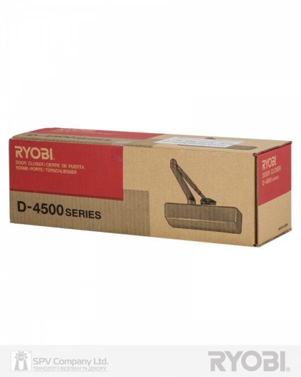 Фото 4 - Доводчик накладной RYOBI DS 4550-4550P DARK BRONZE BC/DA PRL HO ARM EN 2-7+ до 200кг 1400мм.